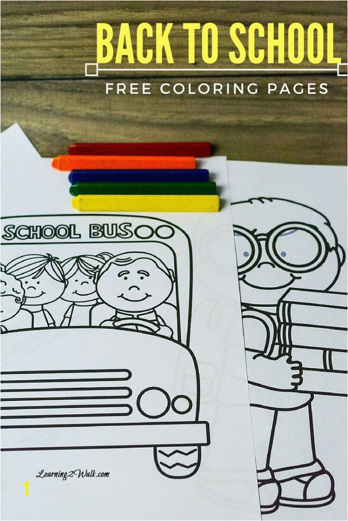 Enjoy these back to school free coloring pages to help your kids transition to their new school year