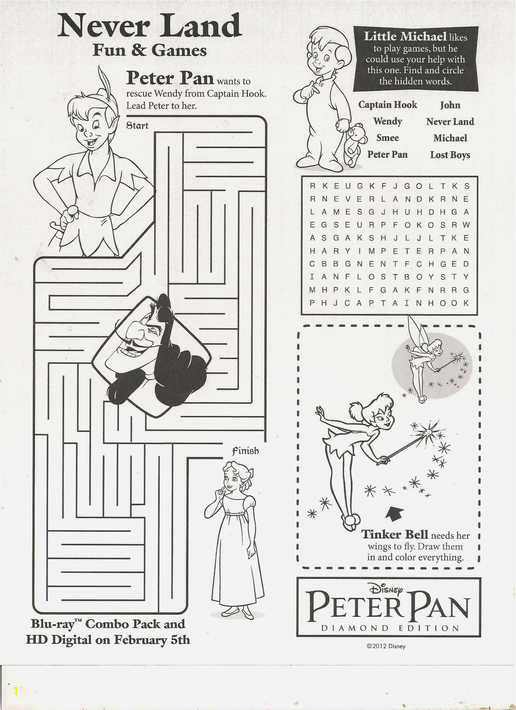 Peter Pan Coloring Pages Amazing Advantages Peter Pan Tinkerbell and Captain Hook Coloring Pages for Kids