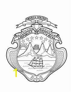 Coat of Arms Escudo Coloring Helga Howay · About Costa Rica