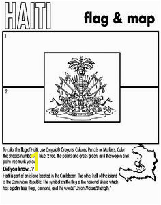 Learn more about the Haiti flag with this coloring page haiti coloringpage Flag Coloring