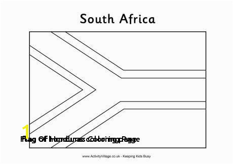 Flag Honduras Coloring Page Flag Honduras Coloring Page south African Flag Colouring Page