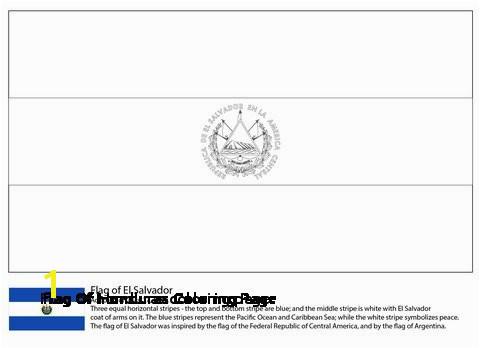 28 Flag Honduras Coloring Page