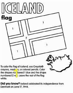 Iceland coloring page