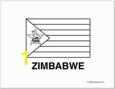 Flag Zimbabwe Line drawing of Zimbabwe flag to color Zimbabwe Flag The