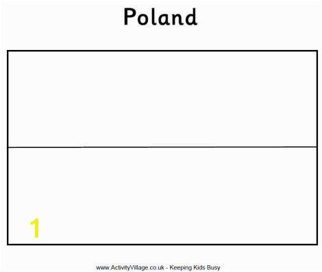 Polish flag coloring page