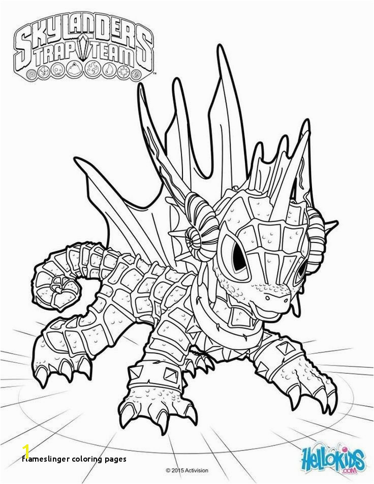 Flameslinger Coloring Pages Awesome 15 Unique Skylanders Giants