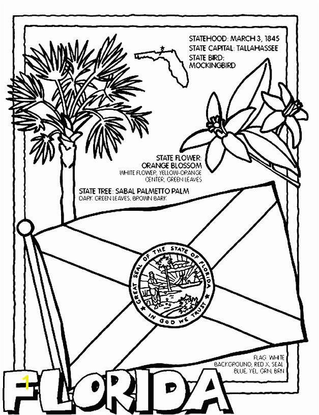 Elegant Florida State Coloring Pages