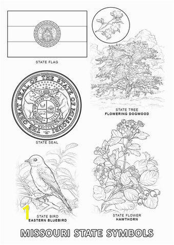 Missouri State Symbols coloring page from Missouri category Select from printable crafts of cartoons nature animals Bible and ma…