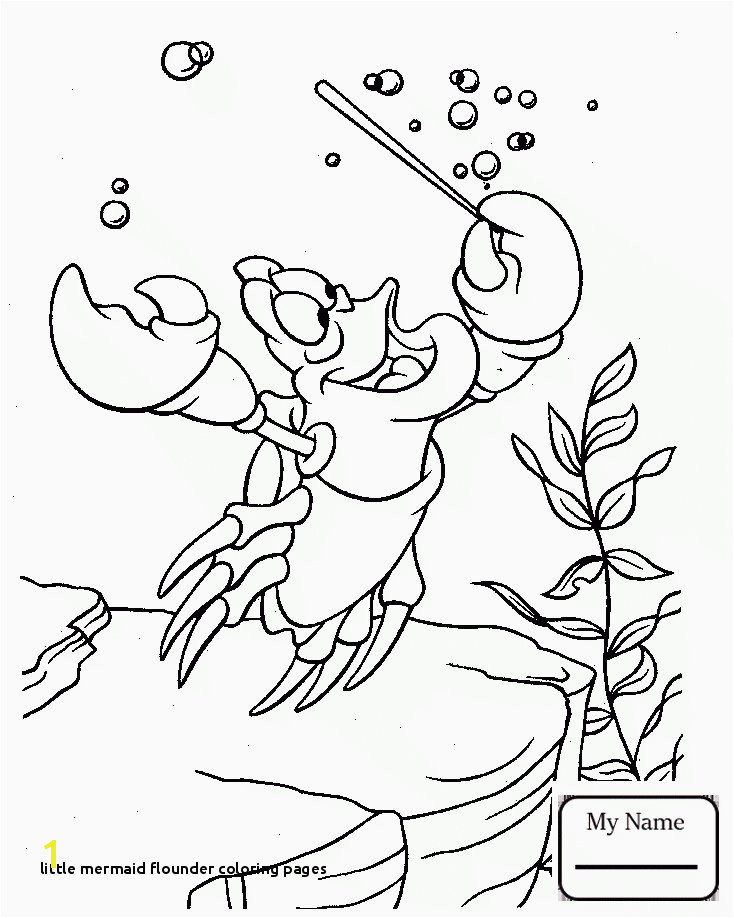 Little Mermaid Flounder Coloring Pages Little Mermaid Coloring Pages Sebastian