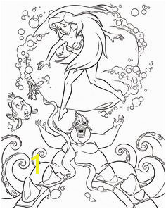 Walt Disney Characters Walt Disney Coloring Pages Flounder Sebastian Princess Ariel & Ursula