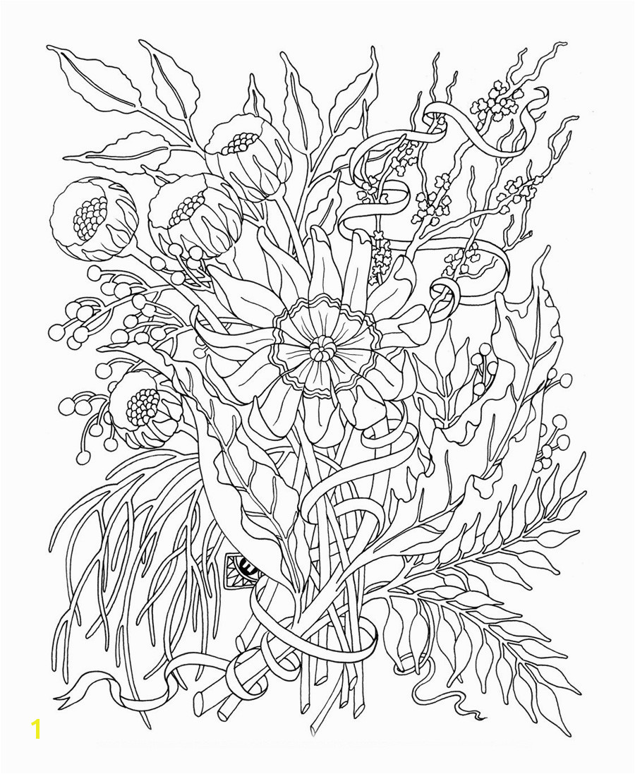 31 best free flower coloring pages adults