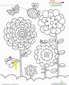 Flower Garden Coloring Page Worksheet God s creation nature cottagegardens