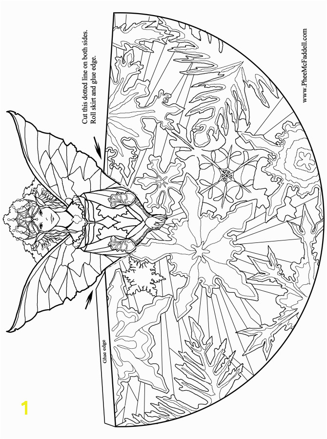 tree topper fairy angel coloring books for adults