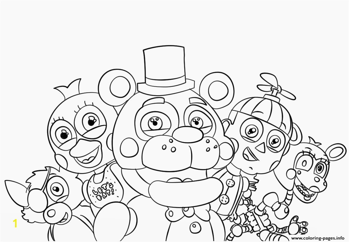 Fnaf Coloring Pages All Characters Beautiful Five Nights at Freddy S Coloring Pages to Print