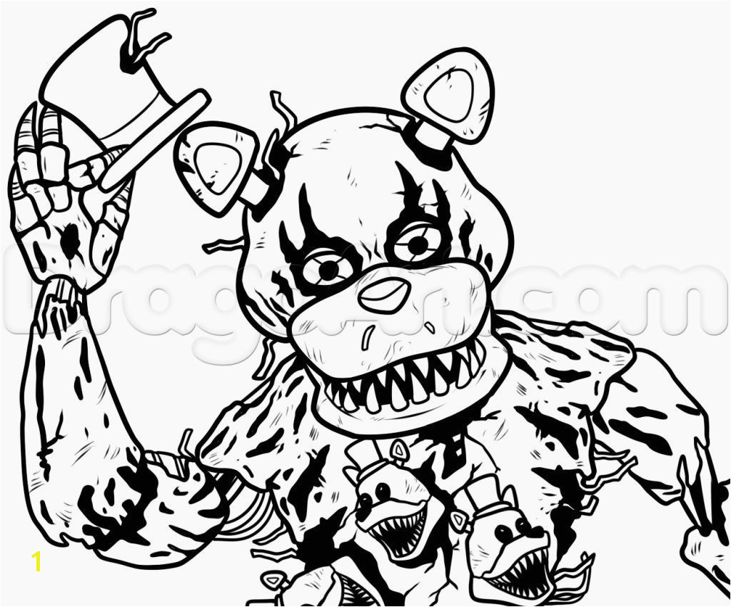 Image for Fnaf 4 Coloring Sheets