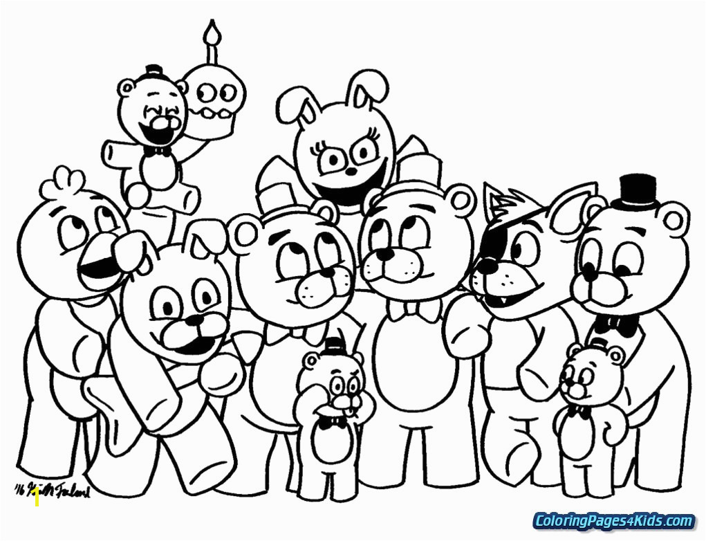Revealing Fnaf 4 Coloring Pages All Characters 7 Cute Thanhhoacar