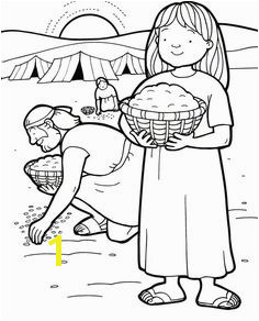 manna and quail coloring page Google Search Sunday School Coloring Pages Sunday School Kids