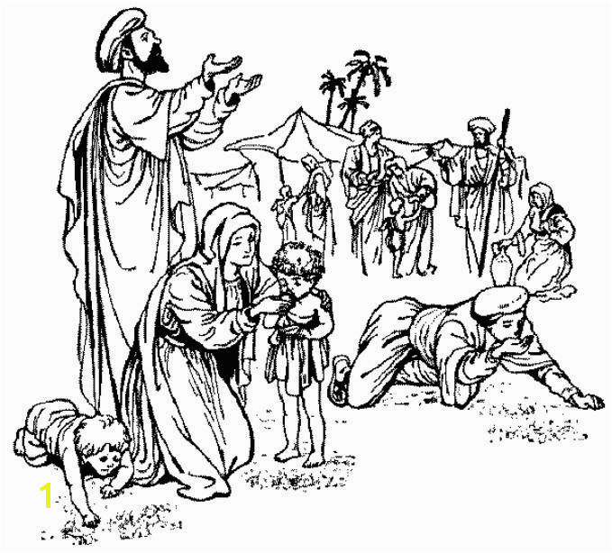 Manna From Heaven Coloring Page 39 Best Gives Food And Water Sunday