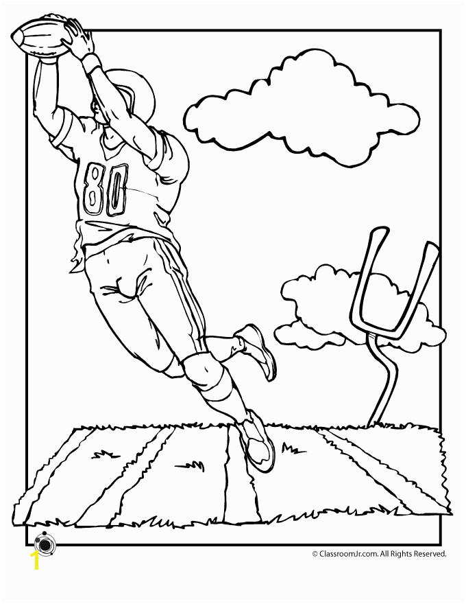Football Field Coloring Page First and goal