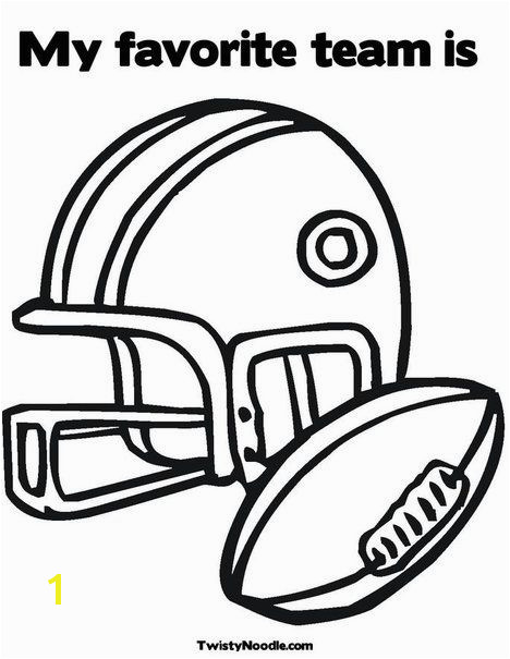 Football Helmet and Ball Coloring Page Perfect for Tackle Reading s kathrynstarke