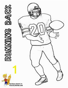 Football Coloring Page Running Back at YesColoring