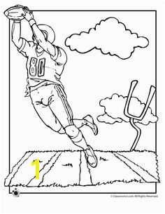 Football Field Coloring Page First and goal Football Coloring Pages Sports Coloring Pages