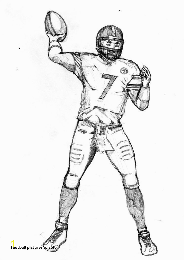 0d Picture Football to Color How to Draw Football Players Football Player Coloring Pages