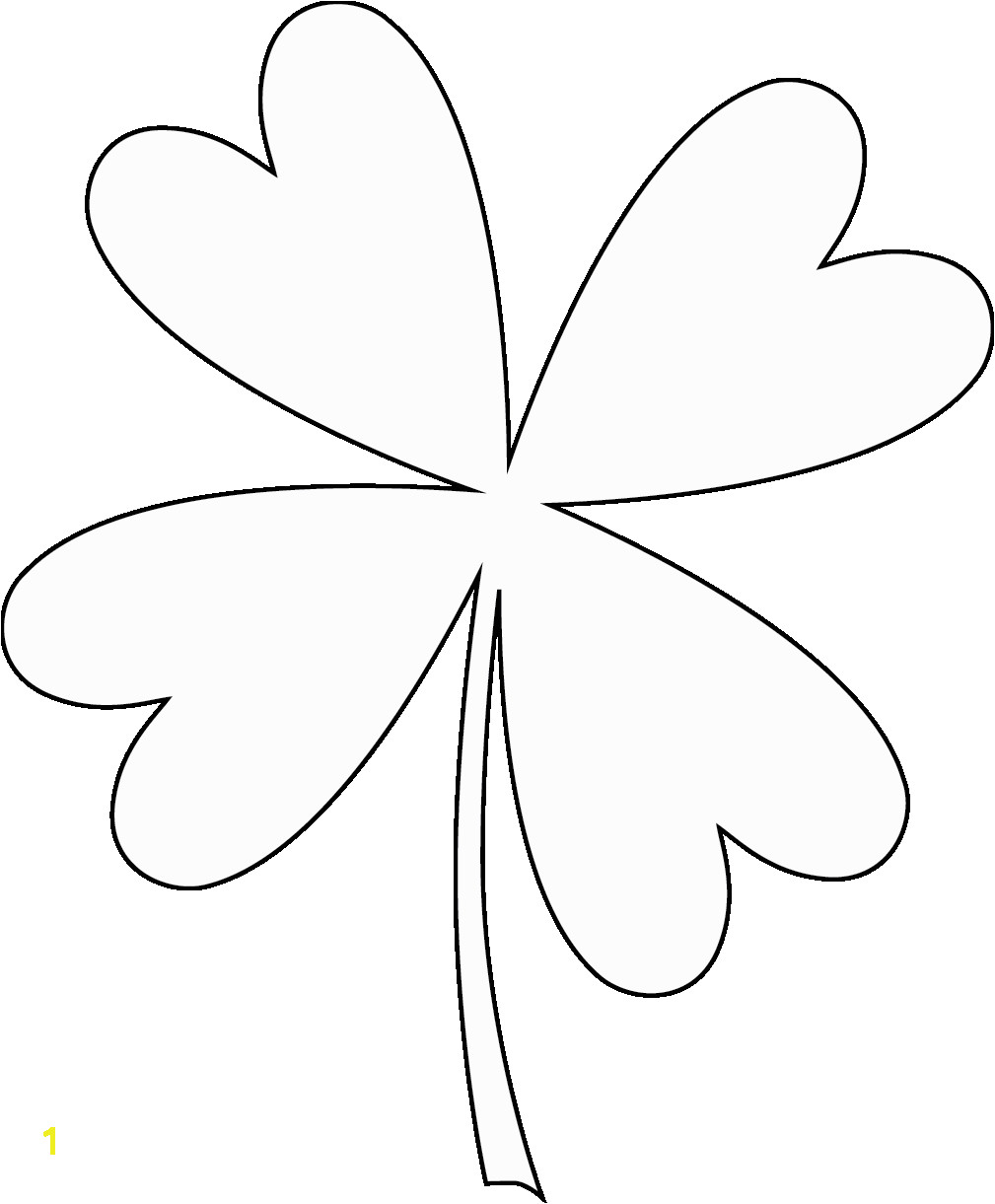 Four Leaf Clover Coloring