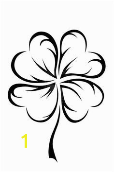 An Art Graphic of Four Leaf Clover Coloring Page Four Leaf Clover Tattoos Four