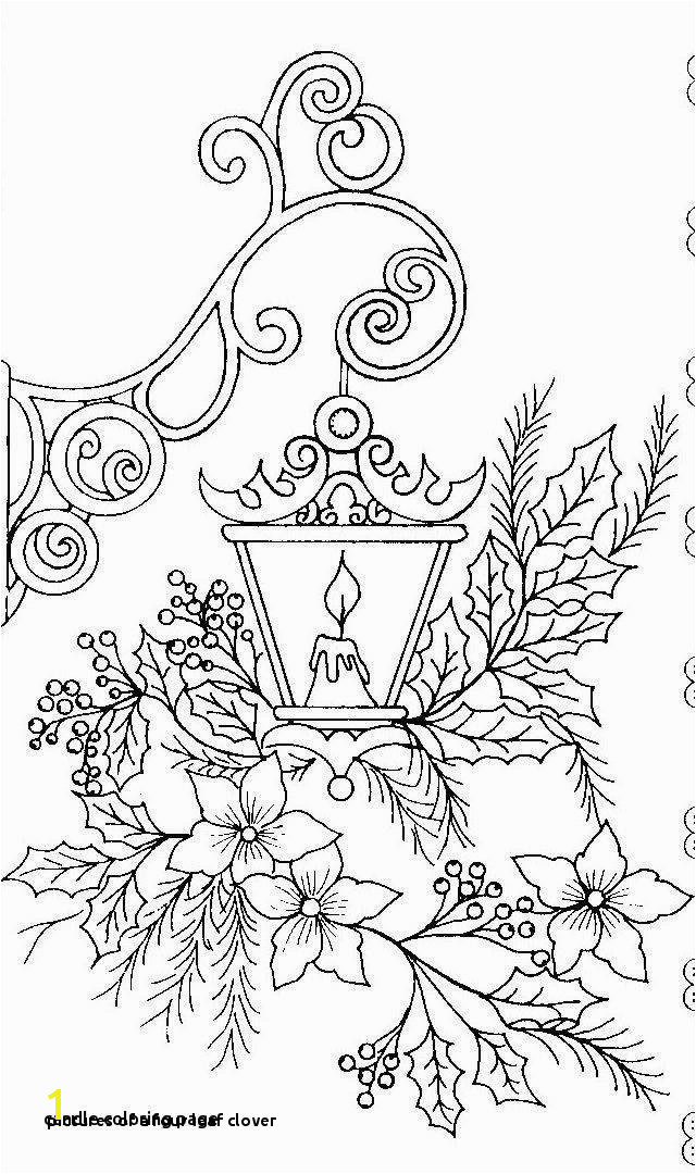 A Four Leaf Clover Four Leaf Clover Coloring Page