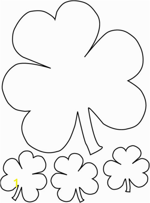 Four Leaf Clover Color Page Best 4 Leaf Clover Coloring Page Luxury Clover Coloring Pages