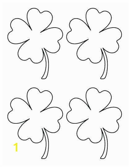 Four Leaf Clover Color Page New 4 Leaf Clover Coloring Page Luxury Clover Coloring Pages Elegant