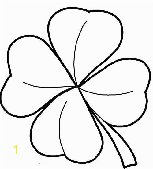 Four Leaf Clover Color Page New 4 Leaf Clover Coloring Page Templates & Patterns Shamrock Coloring