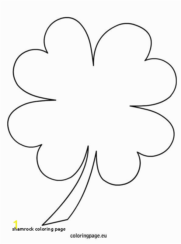Four Leaf Clover Color Page Beautiful Shamrock Coloring Page 4 Leaf Clover Coloring Page Templates