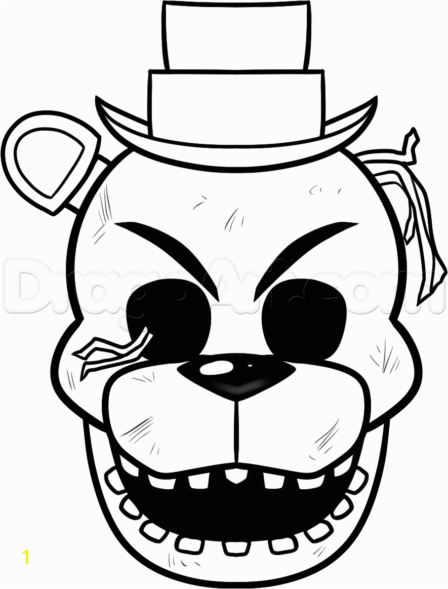 Freddy Fazbear Coloring Page Bonnie Golden F Naf Coloring Pages