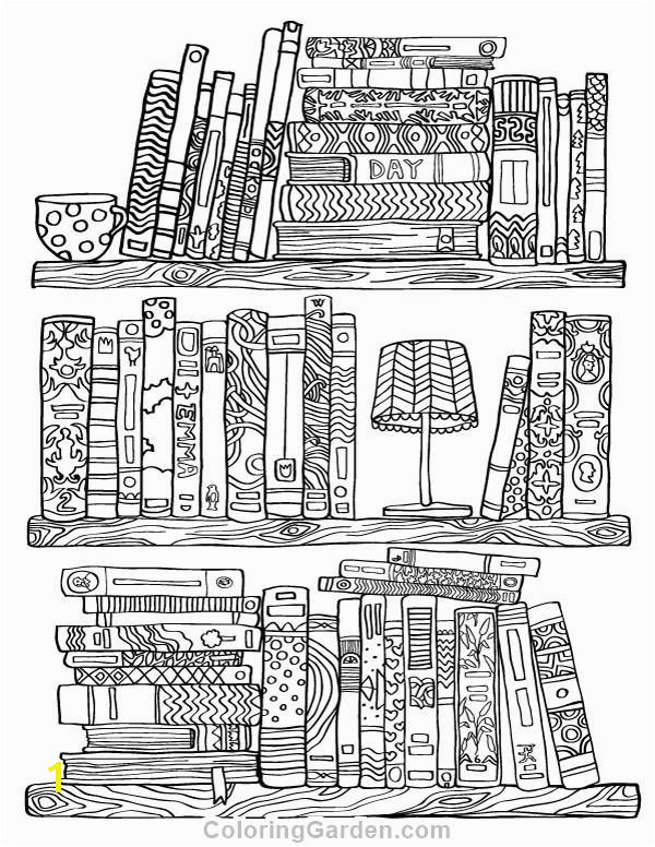 Free Adult Coloring Pages Pdf Fresh Free Printable Bookshelf Adult Coloring Page Download It In Pdf