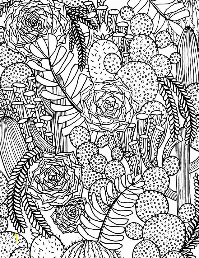 FREE succulent coloring page from alisaburke