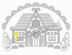 Gingerbread House Christmas Adult Coloring Page Christmas Coloring Page Printable Coloring P