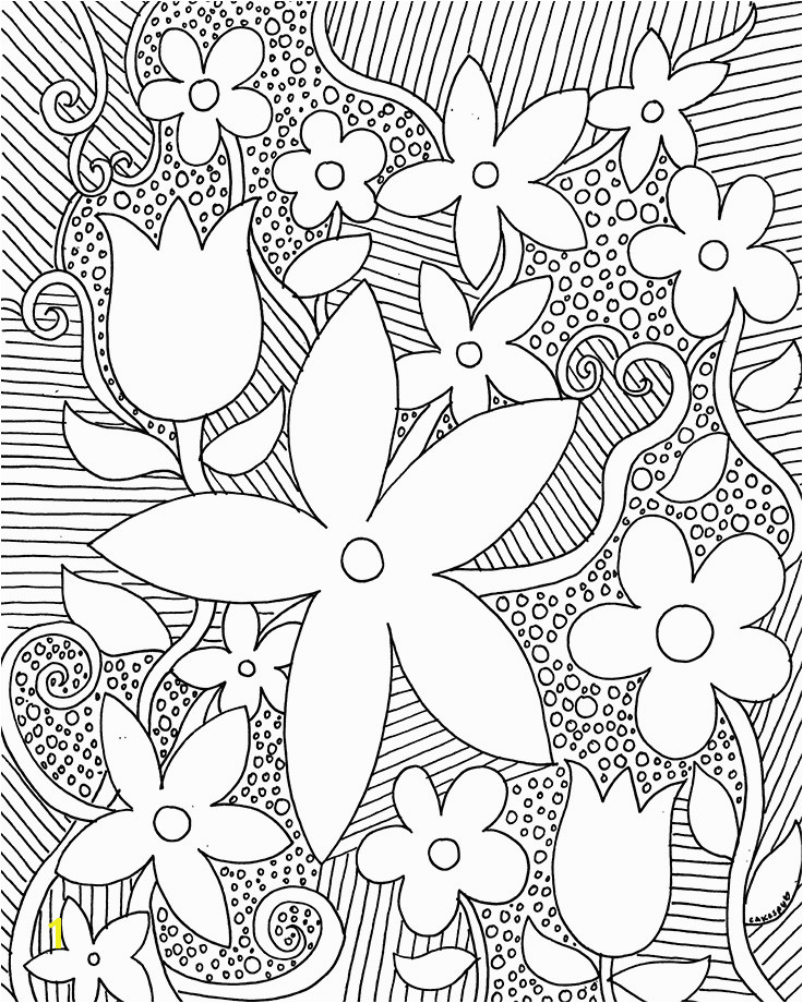 Coloring book page grow Coloring book page flowers
