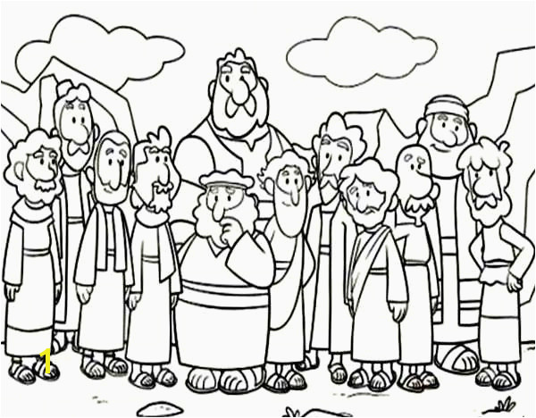 Ctr Coloring Page Elegant Jesus Baptism Coloring Page Lovely Cartoon Od Jesus Disciples