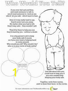 Free Coloring Pages On Bullying who Would You Tell Free Coloring Page to Talk About Body Safety