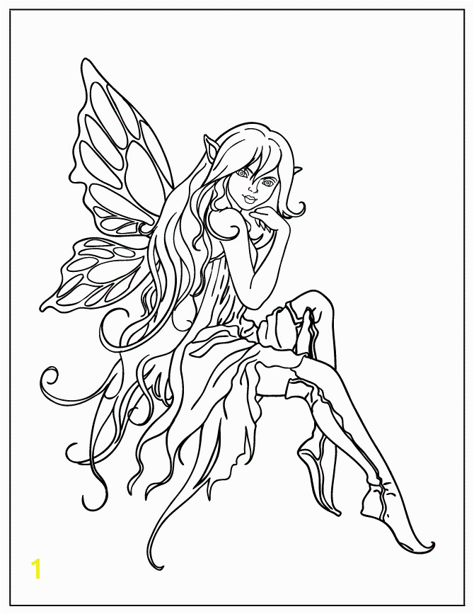 beautiful fairies Colouring Pages
