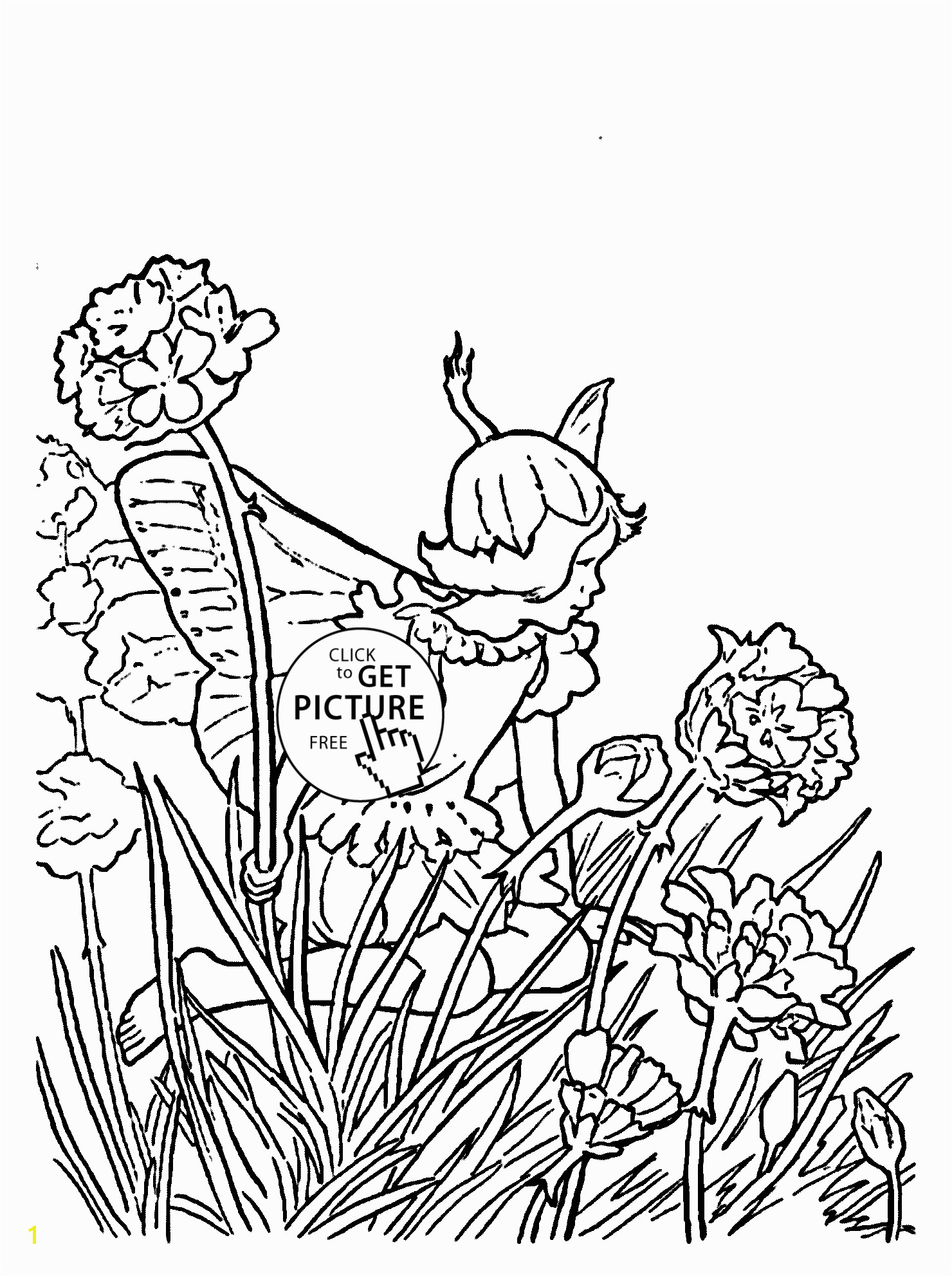 Free Fairy Coloring Pages for Adults to Print Flower Fairy Thrift Coloring Page for Kids for Girls Coloring Pages