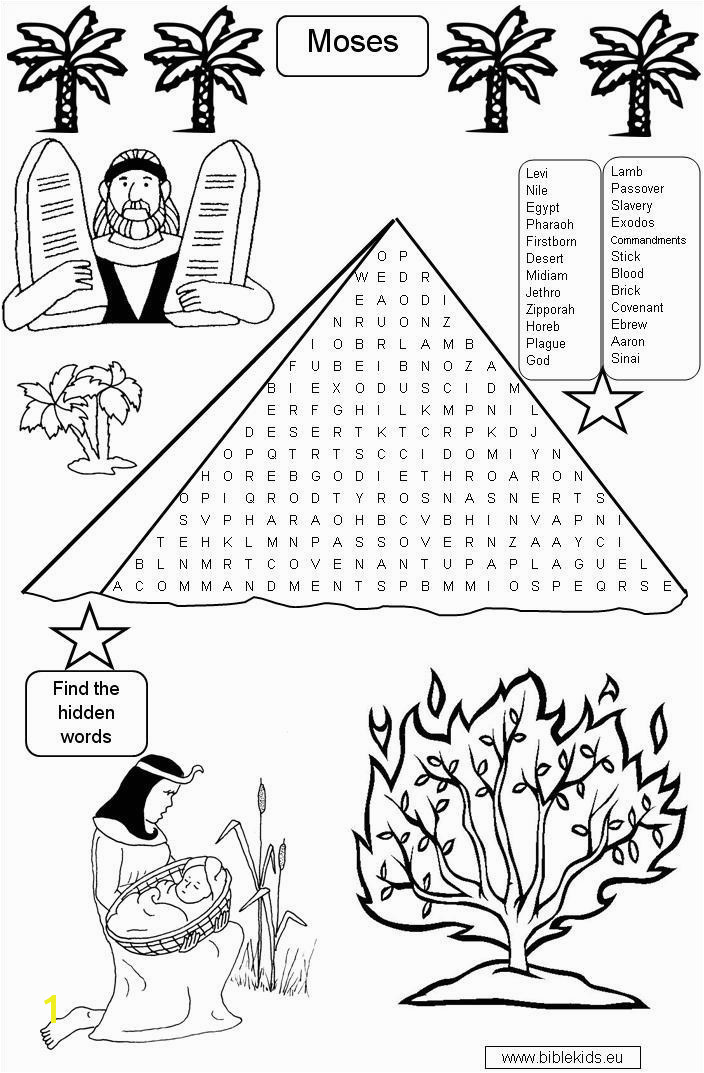 Free Moses Coloring Pages Moses Coloring Pages