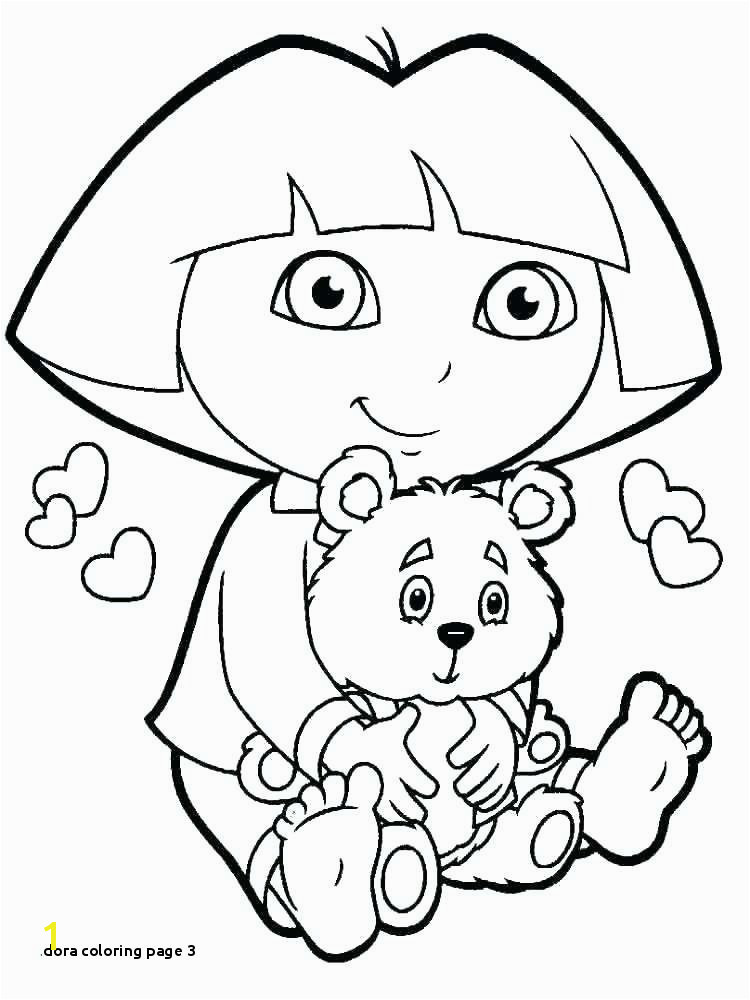 Dora Coloring Page 3 Nick Jr Coloring Pages Colorful Dora Color Page Coloring Color Pages