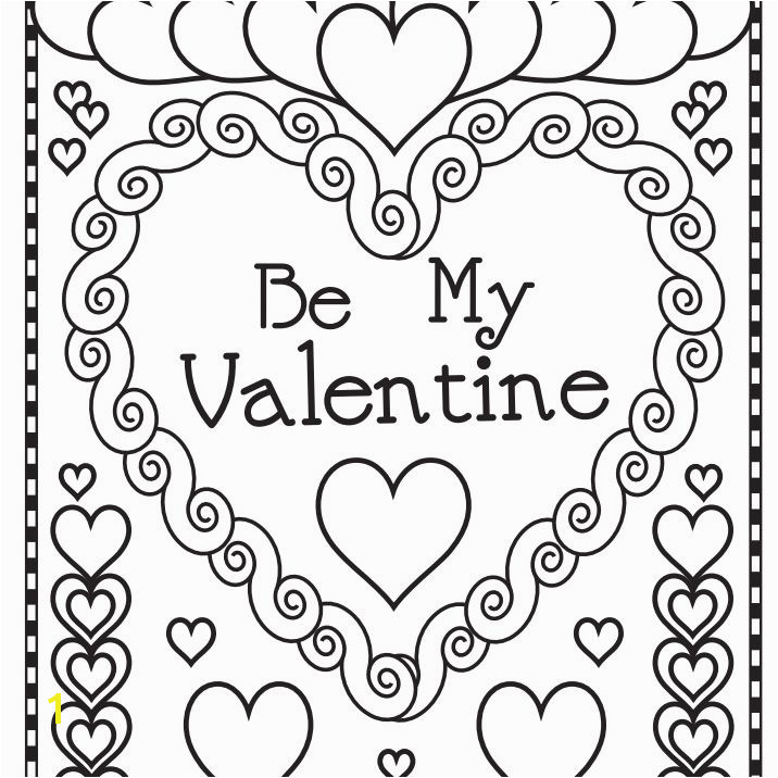 "A ""Be My Valentine"" coloring page"