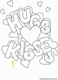 Free printable Valentine s Day coloring page from KDDoodle Muah Free Printable Coloring Pages