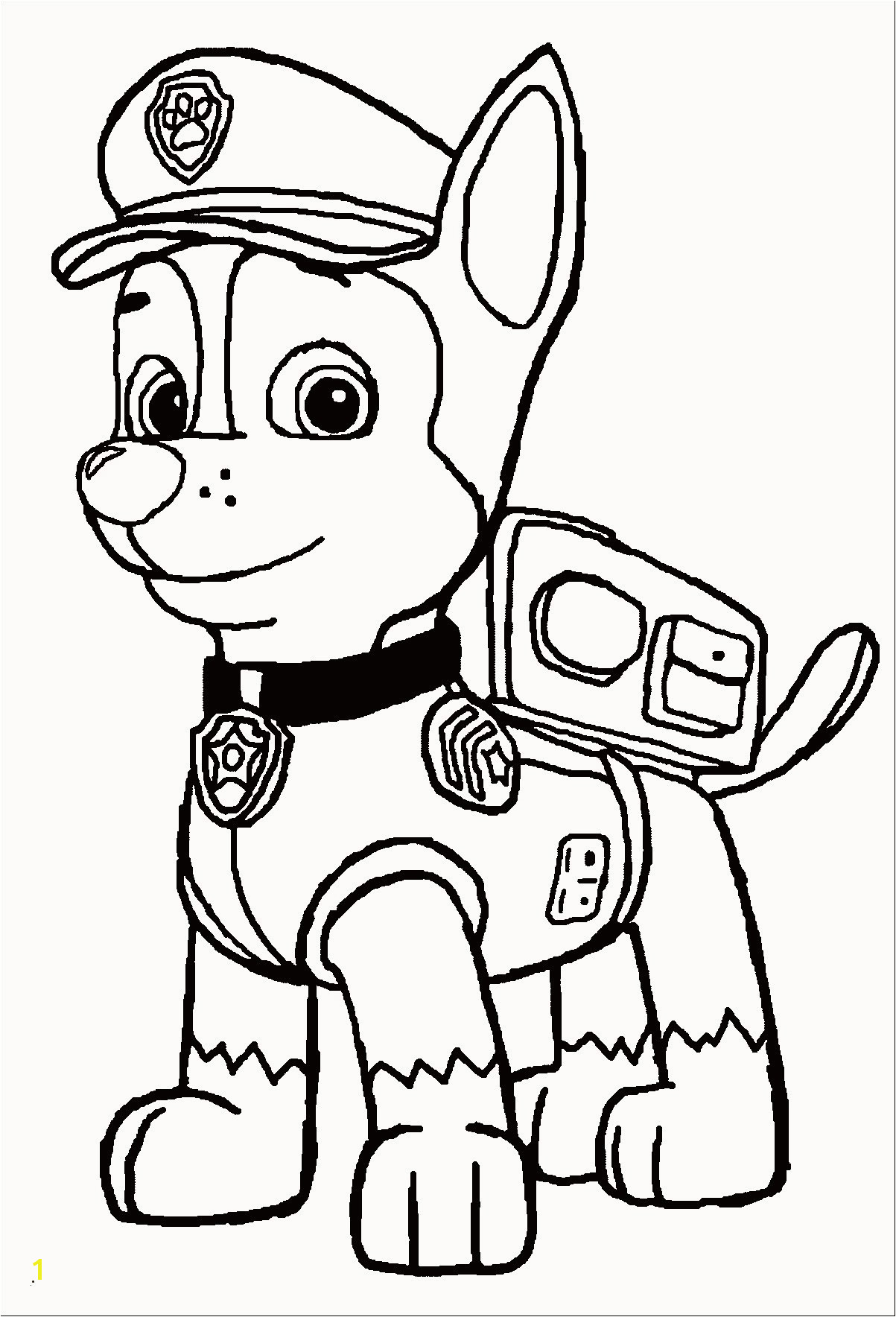 "36 s of ""36 Skizze Paw Patrol Ausmalbilder Chase"" Paw Patrol Coloring Pages Robo Dog Beautiful Free"