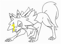 Lycanroc Midday Form Pokemon Sun and Moon Coloring Page Free Pokémon Sun and Moon Coloring Pages