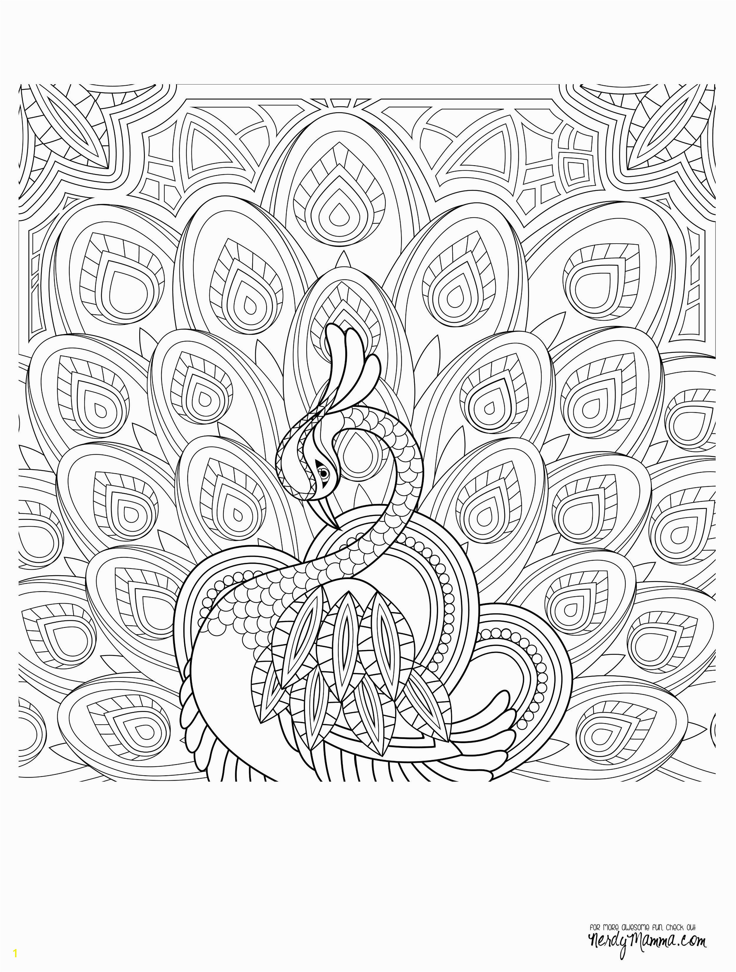 Peacock Feather Coloring pages colouring adult detailed advanced printable Kleuren voor volwassenen coloriage pour adulte anti stress kleurplaat voor